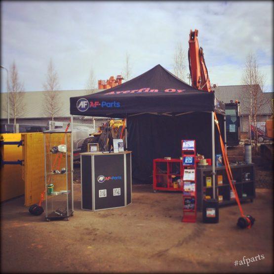 Varaosapäällikkömme Teemu kävi edustamassa Oulun RealMachineryn tiloissa